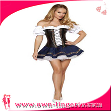 2012 Newest Halloween costumes charming and sexy black latex costume