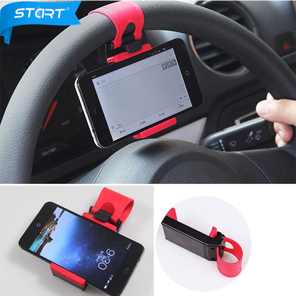 Car Steering Wheel Mount Phone Holder Stand For iPhone 4 4S 5 5C 5S 6 Plus For xiaomi Mi4 Mi3 Mi2 Redmi Note 3 2 Holders ZJ07(China (Mainland))