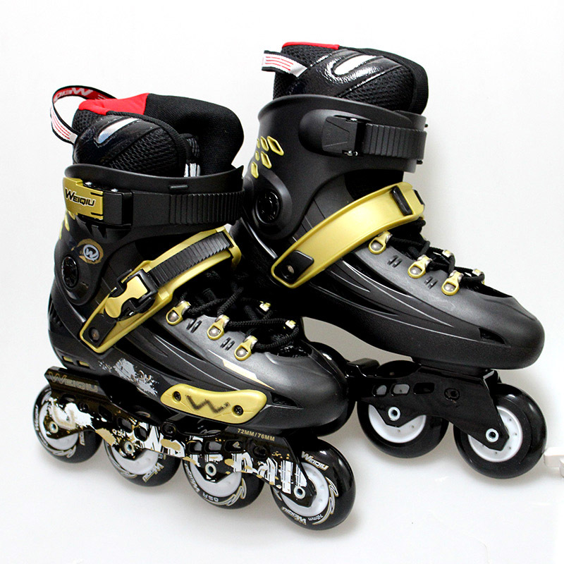 WEIQIU The King High Quality Professional Speed Inline Roller Skates Shoes Impact Resistant Four wheels For Sport Men Women(China (Mainland))