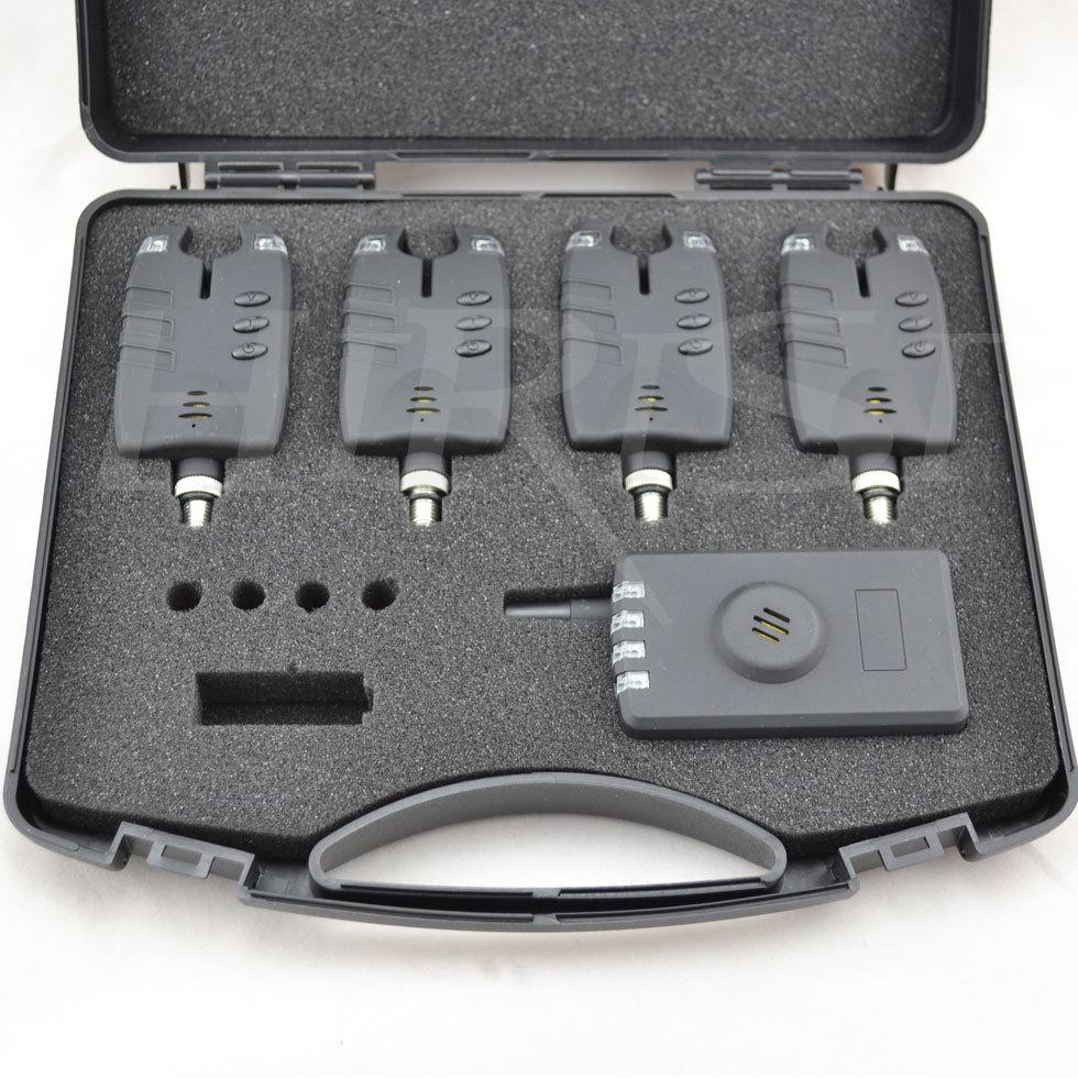 fishing alarm wireless bite 4+1 perfect black case cap
