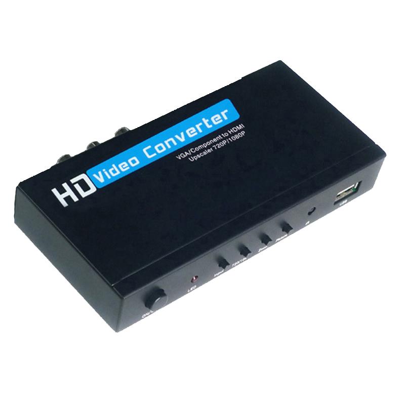 VGA / Component YPbPr to HDMI Upscaler HD video Converter Adapter 720p/1080p VGA to HDM Adapter(China (Mainland))