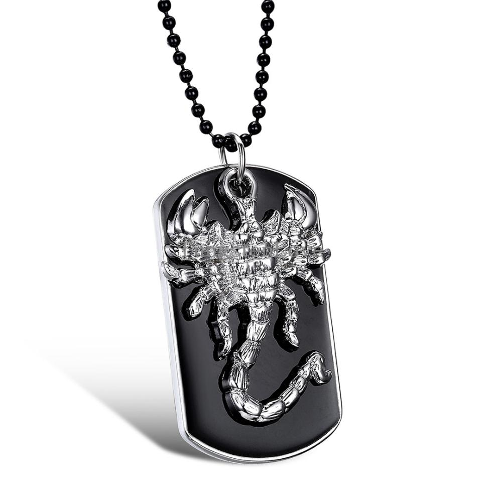 """Men Jewelry Men Necklace Scorpion King Scorpio Tag Pendant 27.6"""" Chain Included (with Gift Bag)(China (Mainland))"""