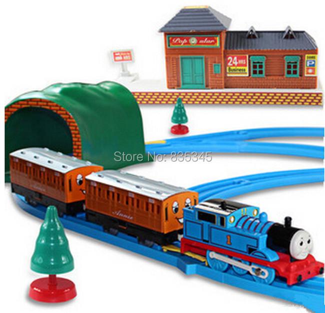 Genuine! Thomas Orbit train electric toys Building Blocks Music Trains thomas Eyes Flashing Children Gift