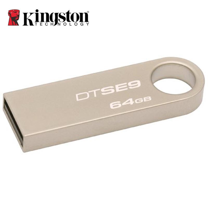 Kingston Mini USB 2.0 Memory Stick 8GB 16GB 32GB 64GB USB Flash Drive Mental Silver Ring Pen Drive Memoria Stick Hard Disk DTSE9(China (Mainland))