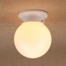 White / Black Ball Ceiling Lamp Glass Entranceway Balcony Ceiling Light Corridor Lighting Use E27 Bulb Stair Cottage Country(China (Mainland))