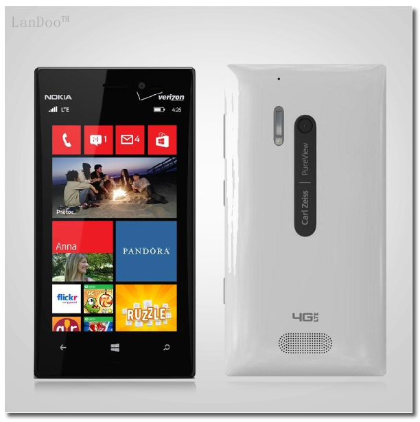 Nokia 928 Original Nokia Lumia 928 Windows Phone Unlocked 4.5'' Dual Core 32GB 8.7MP NFC 3G Mobile Phone Refurbished(China (Mainland))