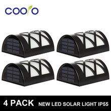4 PACK LED Solar Light  6 LEDs WaterproofIP55 Sensor Light Outdoor Light  Path  Corridor Wall Lamp Spot Lighting LED Solar lamp(China (Mainland))