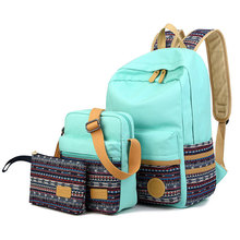 Fashion women canvas backpack  national school backpack bag for teenagers mochila feminine ethnic rucksack(China (Mainland))