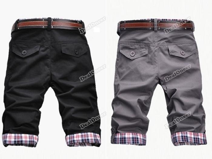 Buckle Pants For Men Buckle Casual Short Pants