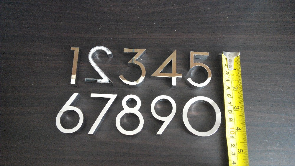 3D Sign Letter stainless steel house / Street Number (custom)H15CM number 1