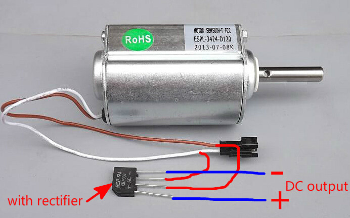 DC120V 2500rpm High power DC motor wind hydraulic generator with rectifier bridge(China (Mainland))