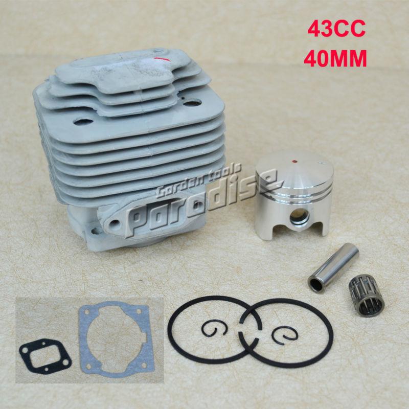 40.5MM 43CC BC430 CG430 40-5 Engine Brush Cutter Cylinder Piston Kit with Manifold Gasket Cylinder Gasket and Needle Bearing(China (Mainland))
