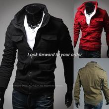 2014 Autumn Winter Warm Fashon New Casual Jackets Men Outerwear Jacket Coat Zipper Slim Coat Men