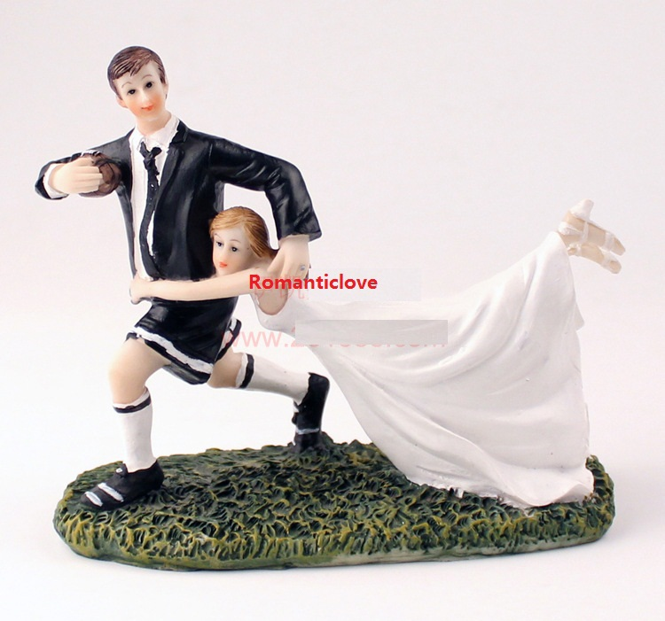 Rugby Player Wedding Cake Topper
