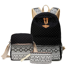Backpacking Backpack Hot Printing Women Backpack Cute Lightweight Canvas Bookbags Middle High School Bags for Teenage Girls(China (Mainland))