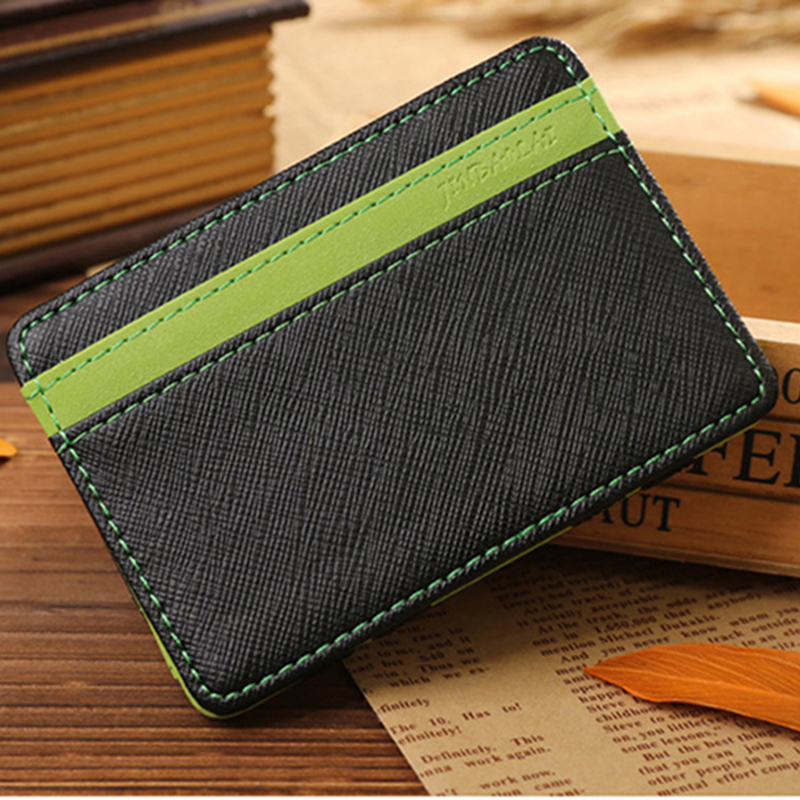 Leather men wallets top quality two piece credit card ...