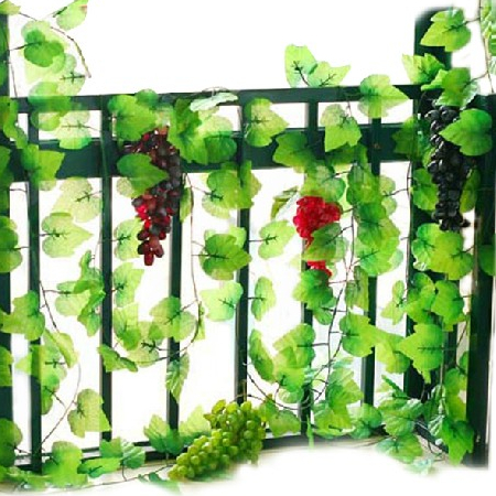 200cm vineyard vines high quality artificial vine real for Artificial grape vines decoration