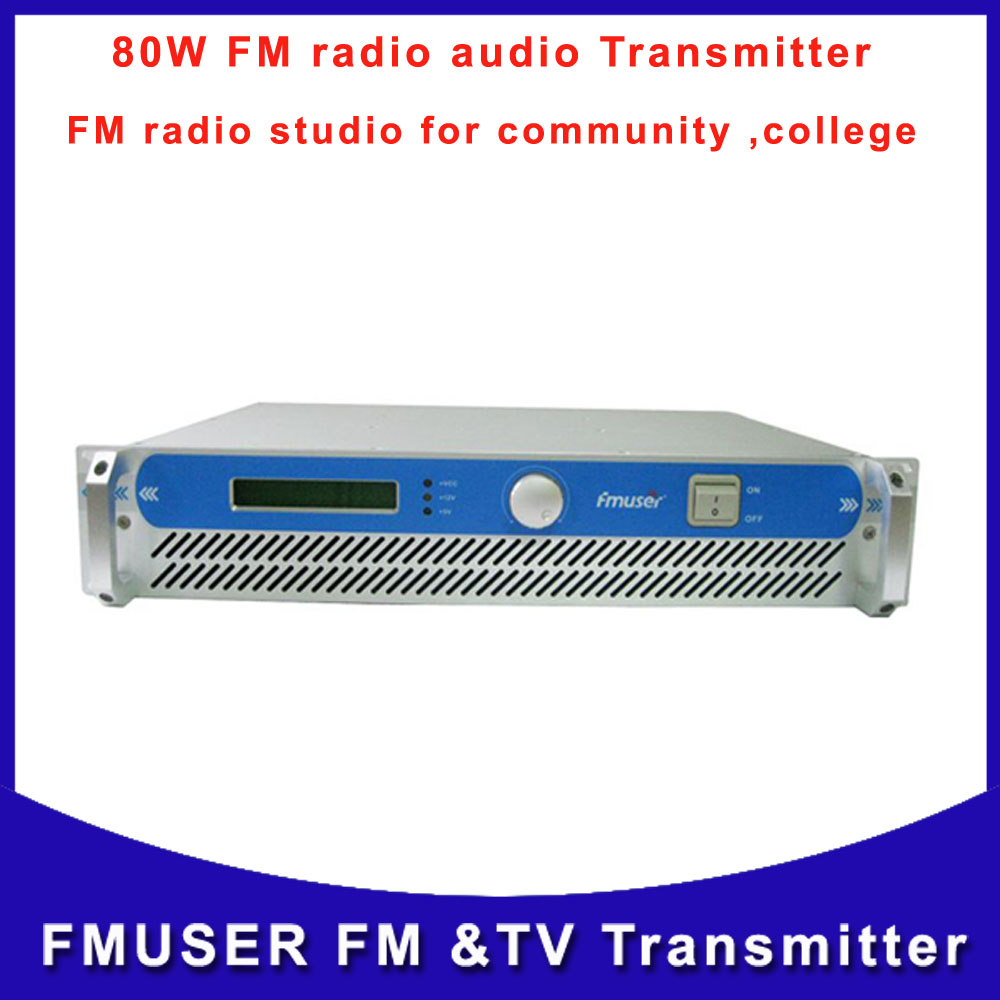 FMUSER-801 CZH-80W 80W FM radio audio Transmitter broadcasting wireless station fm studio transistor Free Shipping(China (Mainland))