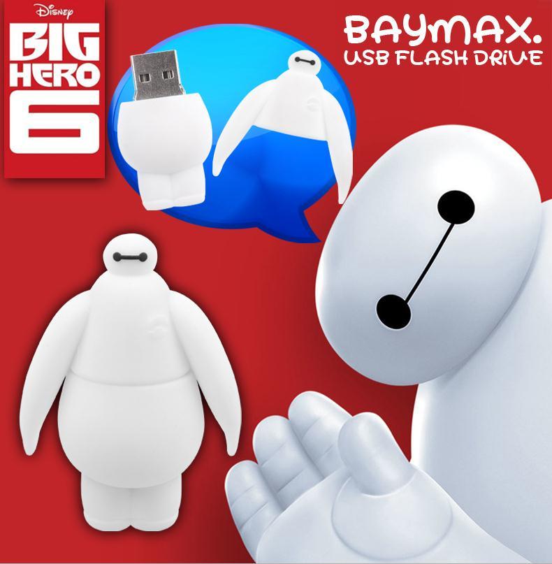 USB Flash Drive New Baymax Pen Drive 8GB 16GB 32GB USB Stick Memory Stick Bay max Pendrive Flash Drive Free Shipping(China (Mainland))