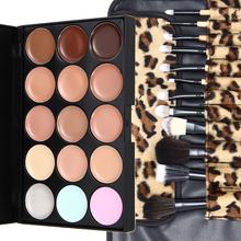 Paleta pro korekci/stínování obličeje + sada 12 ks profesionálních kosmetických štětců