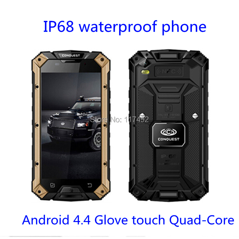 GIFT Bag! Conquest S6 ip68 waterproof phone 4G FDD-LTE MTK8732 5.0'' Gorilla Glass 13MP 64bit NFC SOS SmartPhone S6 A8 A9 Z6 5S(China (Mainland))