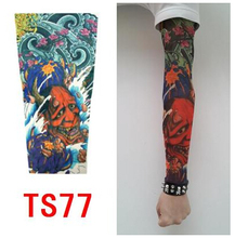 2pcs=1pair Flexible Tattoo Sleeves Long Sleeve Arm Warmers Temporary Tattoo Sticker Arm Sleeves Outdoor Cuff seam tattoo sleeve(China (Mainland))