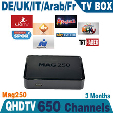 Linux arab iptv box MAG25 Europe IPTV Account 3month Subscription Sports Canal MAG250 French Arabic IPTV Box no monthly fee