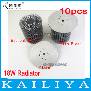 10pcs Free shipping 18W LED Heat Sink,LED Radiator,DIY LED Accessories,Without Plate,88mm Diameter