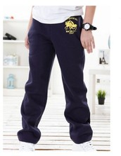 2016 4-14 Years Spring Autumn Children Kids Baby Boys Sport Casual Pants For Boys Loose Comfortable Cotton Trousers(China (Mainland))