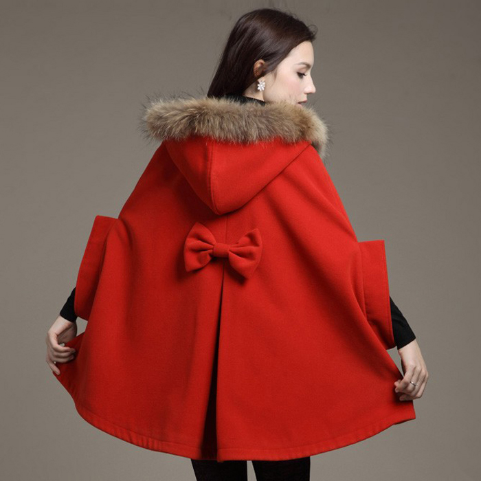 2015 Women autumn and winter wool cloak wool coat woolen outerwear cape CC010(China (Mainland))