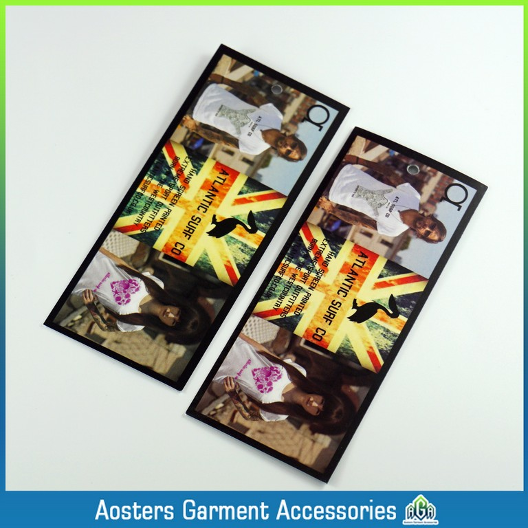 tags and labels wholesale black hang tag customized personalized name tags for clothing(China (Mainland))