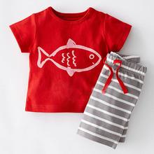2016 Boys Clothing Set Children Sport Suits Children's Clothing Sets For Kids Cotton Clothes Set Boy T-Shirt+ Short Pant CF101(China (Mainland))