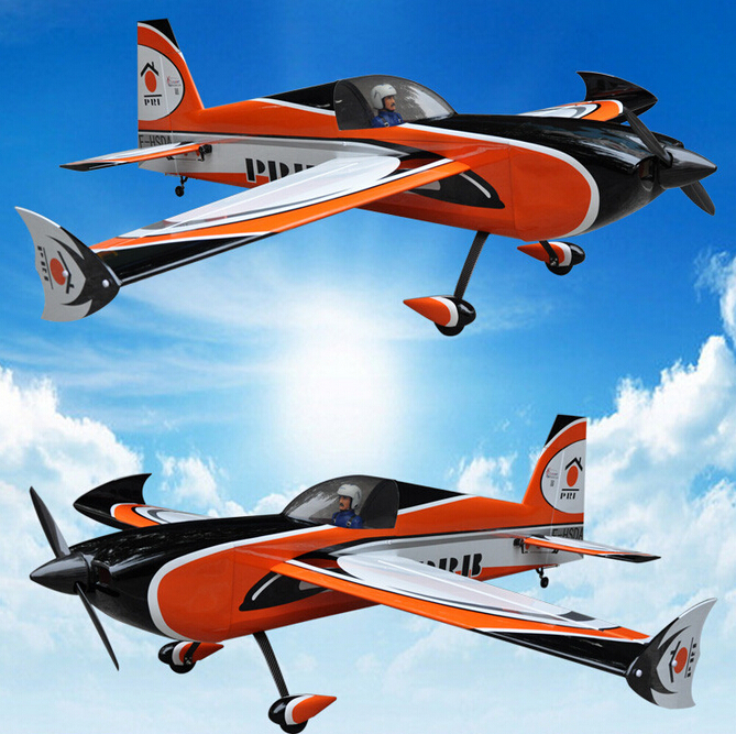 91in/2311mm Slick 3D Gas Balsa Wood RC Airplane 6channels 60cc Plane ARF Orange Shipping from US(China (Mainland))