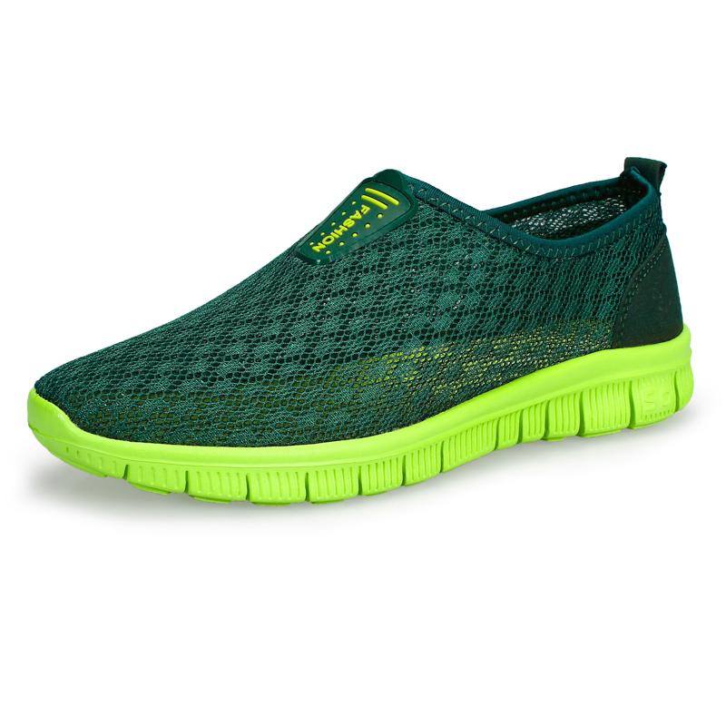 New arrival mens 2015 summer breathable sole-upper shoes fashion style man's net upper sneakers male mesh upper shoes cheap sale(China (Mainland))