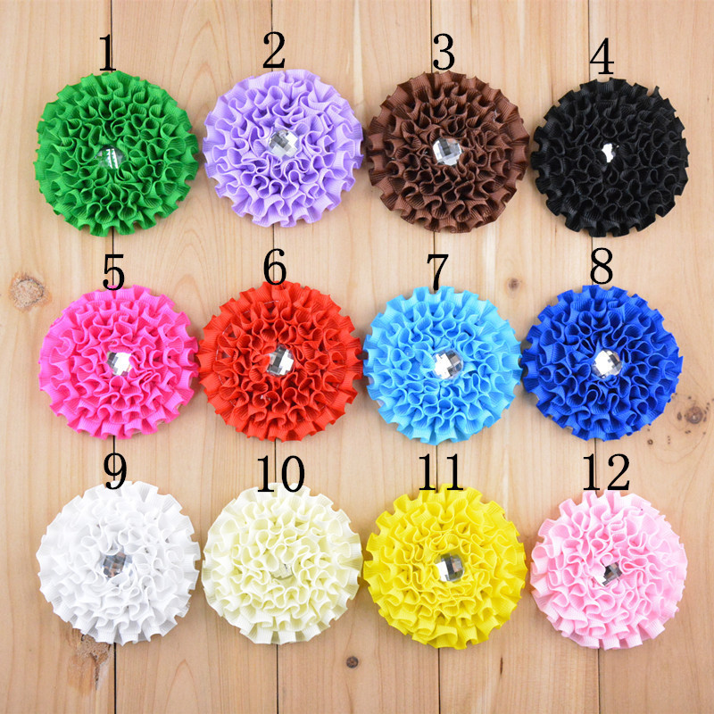 200pcs/lot High Quality Grograin Ribbon Discoid Flowers For Hair Accessories Baby Headbands wh26Одежда и ак�е��уары<br><br><br>Aliexpress