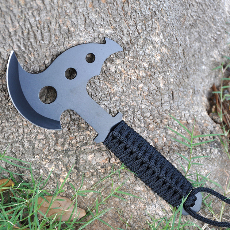 Outdoor Military Camping Hunting Multi-Function Tactical Tomahawk Axe Black Finish Stainless Steel Blade(China (Mainland))