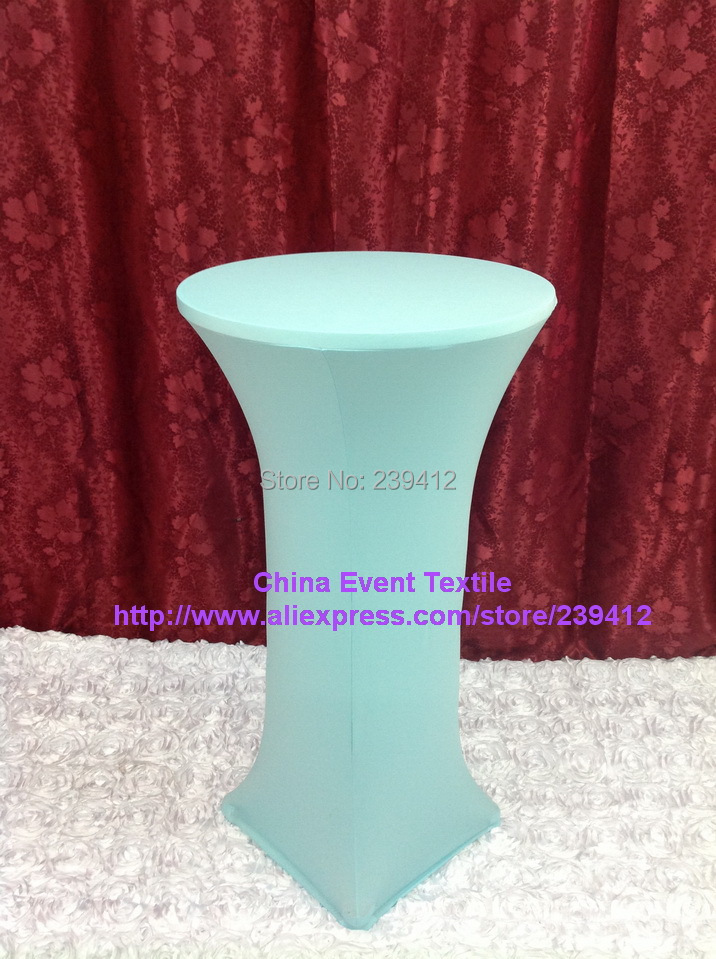 10pcs Extra larger #44 Aqua Lycra Dry Bar Cover&Cocktail Table Cover for Weddings Events &Banquet &Party Decoration(China (Mainland))