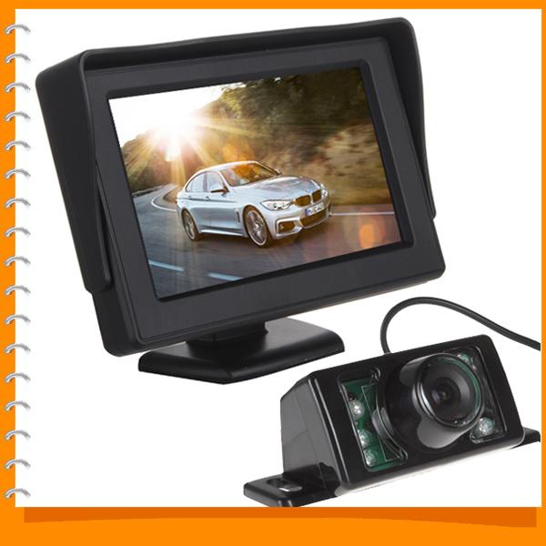 4.3 Inch TFT LCD HD Digital Panel Car Rearview Monitor Parking Reverse Auto + 7 IR Lights Rear view Camera - EStars Store store