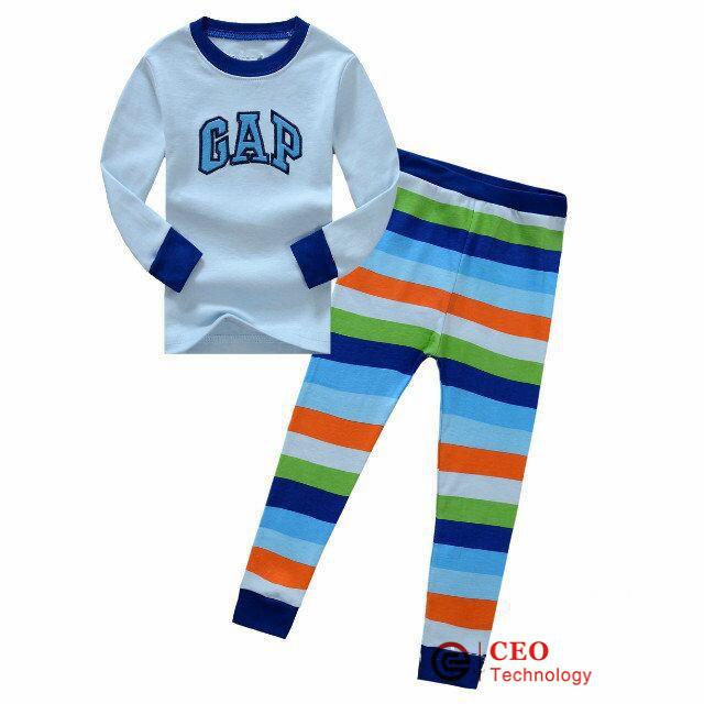 2015 Girls boys kids children Car Styling Pajamas Cartoon GAp Pajamas Tracksuit clothings sets (CXL003)(China (Mainland))