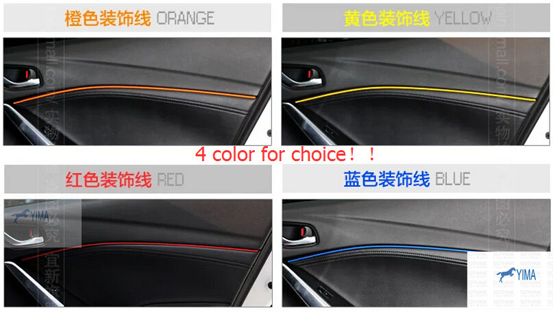 accessories For Mazda 3 AXELA M3 Sedan 2014 Inner Doors Decorative Lines Decorations Light Strip / 4 color for choice!<br><br>Aliexpress