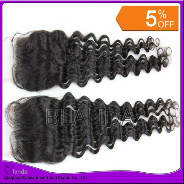 "Bleached knots top closure hair,lace closure loose wave 4""*3.5"",swiss lace,shipping free DHL"