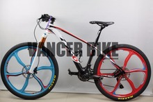 MTB Bike Full carbon fiber complete bike Carbon mountain bicycle with frame+fork+wheels+handlebar+seatpost+saddle free shipping(China (Mainland))