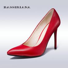 BASSIRIANA New Fashion Women's High-heeled Shoes Sexy Beautiful Wedding Shoes Pointed Toe Thin Heels High-heeled Women Shoes(China (Mainland))