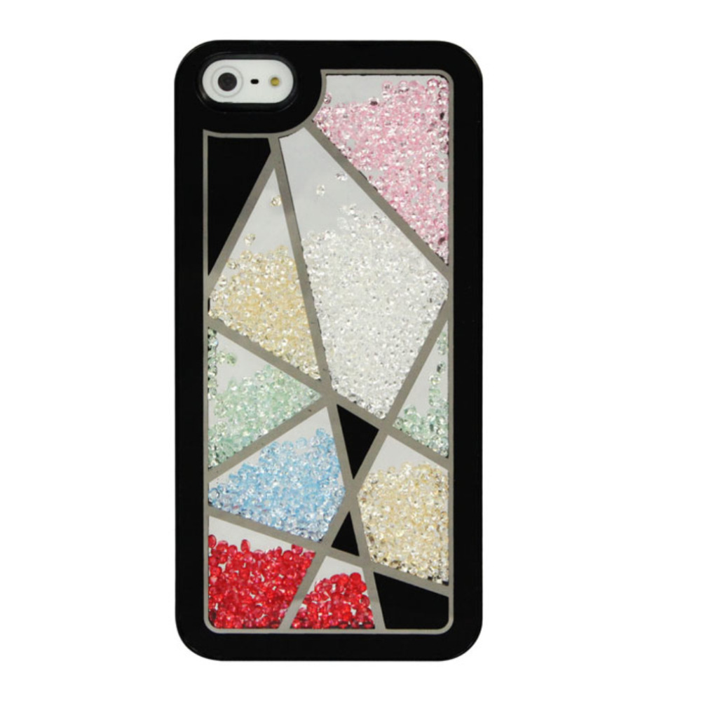excellent quality phone cases For iPhone 5 Hot Bird Nest Skin Swarovski Element Crystal Bling Cover Case For iPhone 5 Black(China (Mainland))
