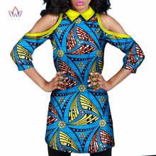 2019 אפריקאי הלבשה לנשים Loose סגנון אפריקאי שמלת הדפסת שעוות בד ארוך מקרית למעלה שמלת אופנה אפריקאי הלבשה WY727(China)