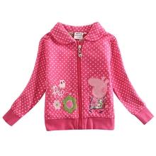 Girl winter coat jacket Children cotton clothing winter outwear girls hoodies children outwear clothing for girls F4363(China (Mainland))