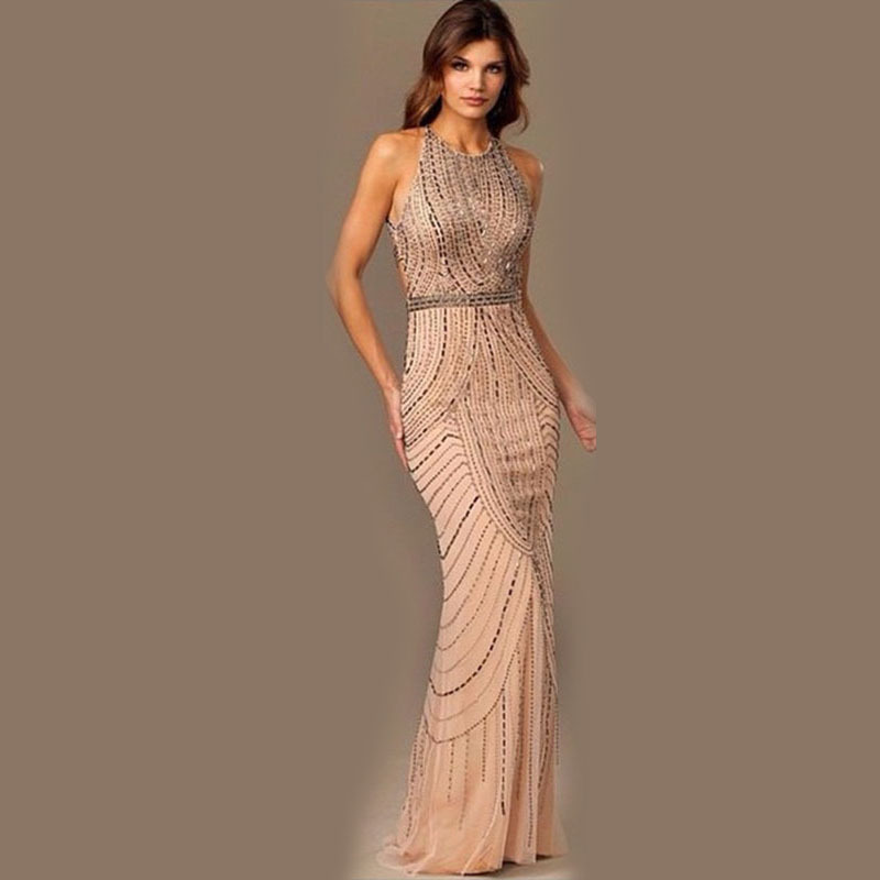 2016 Rushed Special Offer Solid Robe Europe Halter Neck Sleeveless Openwork Sexy Backless Dress Ebay Wholesale Bag Hip Mop(China (Mainland))