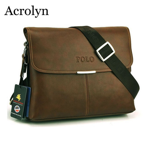 Men's Business Shoulder Bag Casual Messenger Bags High Quality IPAD Leather Bag Free Shipping(China (Mainland))