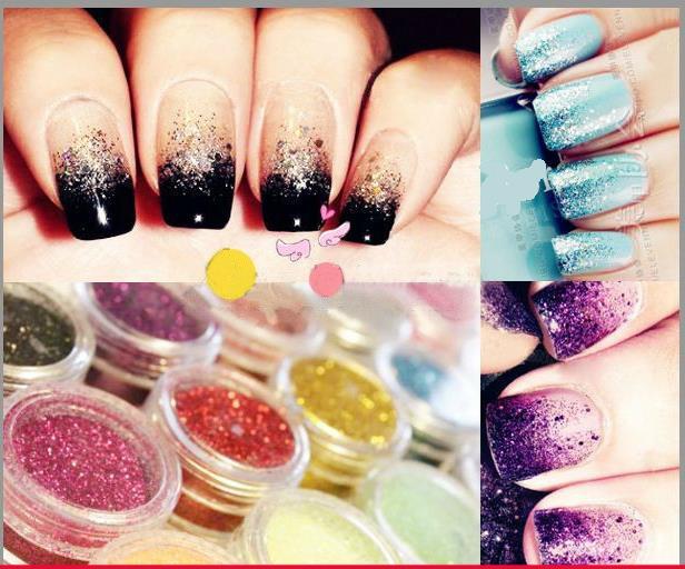 High-temperature laser glitter nail supplies tools accessories sequined glitter nail Glitter Nail art tools 11(China (Mainland))