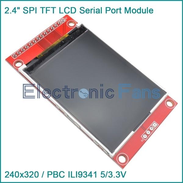 "Гаджет  2.4"" 240x320 SPI TFT LCD Serial Port Module+5V/3.3V PBC Adapter Micro SD ILI9341 None Электронные компоненты и материалы"